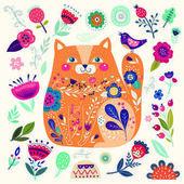 Cute decorative cat