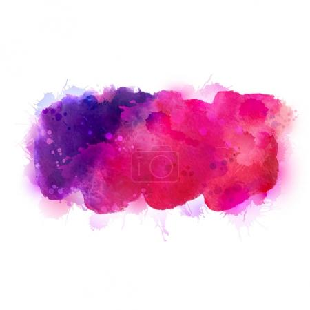 Purple watercolor stains