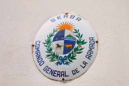Photo pour Comando générale de la Armada signer à Colonia del Sacramento, Uruguay. C'est une des plus anciennes villes en Uruguay - image libre de droit
