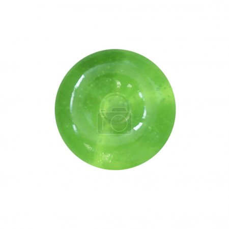 Green candy lollipops, isolated....