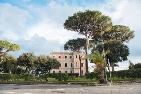 Photo for Luxury building on surrounded with pines at Anzio, Italy - Royalty Free Image