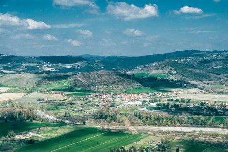 Photo pour Beau paysage à Orvieto, banlieue de Rome, Italie - image libre de droit