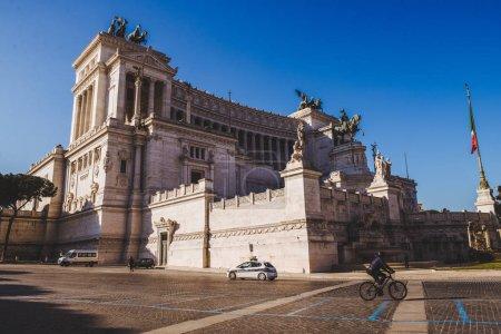 ROME, ITALY - 10 MARCH 2018: beautiful ancient building of Altare della Patria (Altar of the Fatherland)