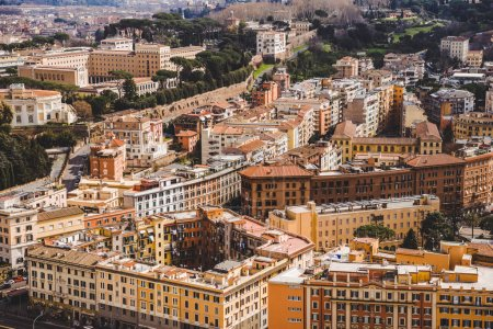 aerial view of beautiful ancient buildings at Rome, Italy