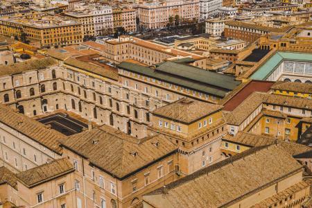 Photo pour Vue aérienne d'anciennes constructions romaines, Rome, Italie - image libre de droit