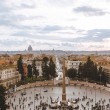 Aerial view of Piazza del Popolo (People Square), ...