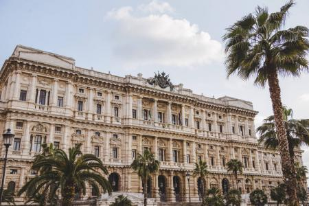 facade of Court of cassation at Rome, Italy