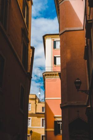 narrow street and buildings in Rome, Italy