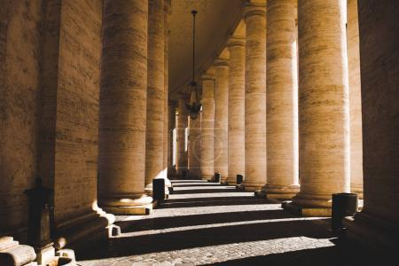 Photo for Beautiful columns with shadow in Vatican, Italy - Royalty Free Image