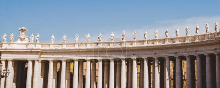 Photo for Panorama view of statues and columns in Vatican, Italy - Royalty Free Image