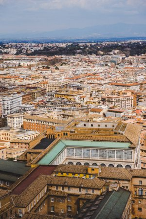 aerial view of buildings in Rome, Italy