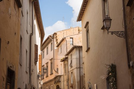 Photo for Sunlight between buildings in Orvieto, Rome suburb, Italy - Royalty Free Image