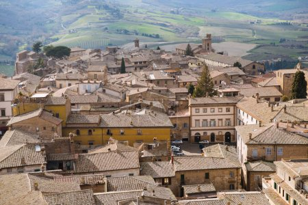 Photo for Aerial view of rooftops in Orvieto, Rome suburb, Italy - Royalty Free Image