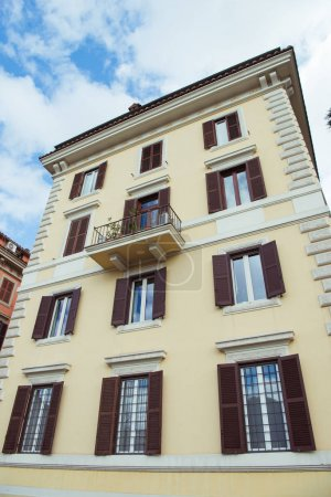 Photo for View of beautiful building with windows in Rome, Italy - Royalty Free Image
