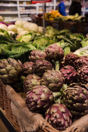 Photo for Close-up shot of fresh vegetables selling on farmers market, Rome, Italy - Royalty Free Image