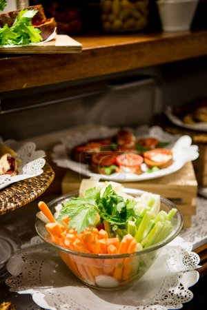 Photo for Tasty  food catering  on background,close up - Royalty Free Image