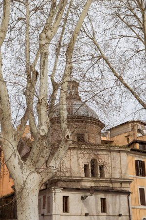Photo for Exterior of old building in Rome, Italy - Royalty Free Image