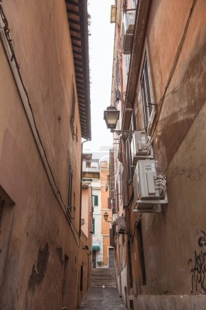 Photo for Ancient buildings on street of Rome, Italy - Royalty Free Image