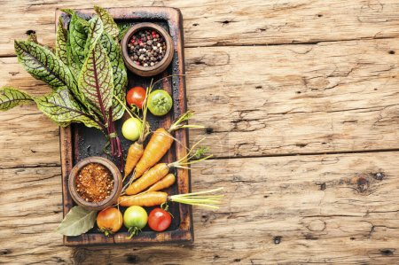 Photo for Set of fresh raw vegetables for diet salad.Salad ingredients. - Royalty Free Image