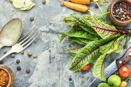 Photo for Fresh raw vegetables for diet salad.Salad ingredients. - Royalty Free Image