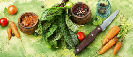 Photo for Mix of raw vegetables for diet salad.Salad ingredients. - Royalty Free Image