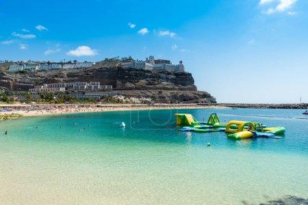 Beach Amadores in Puerto Rico, Island Gran Canaria of spain