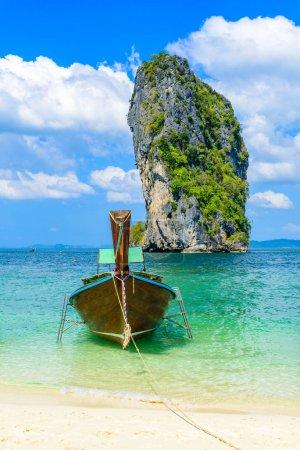 Photo for Poda Island - Paradise beach in tropical scenery - near Ao Nang, Ao Phra Nang bay, Krabi, Thailand. - Royalty Free Image