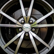 Постер, плакат: Brake system of a sports car Aston Martin Vantage 2010