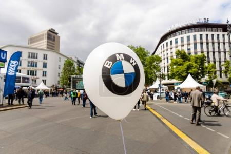 The symbol of BMW on a balloon.