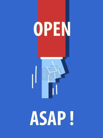 OPEN ASAP typography poster