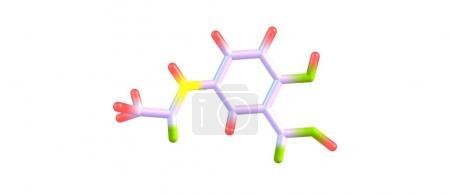 Photo pour La mésalazine ou mésalamine est un médicament anti-inflammatoire aminosalicylé utilisé pour traiter la maladie inflammatoire de l'intestin, y compris la colite ulcéreuse. Illustration 3d - image libre de droit