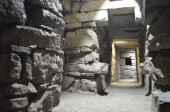 Underground tunnels within the main temple of Chavin de Huantar, Ancash, Peru