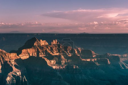 Magnificent view of Grand Canyon in sunset time in Arizona, USA.