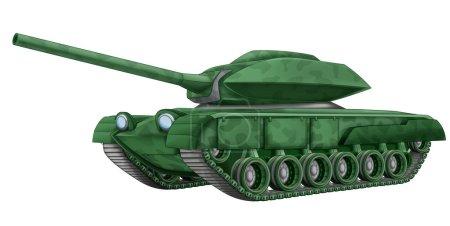 Cartoon tank - illustration for children