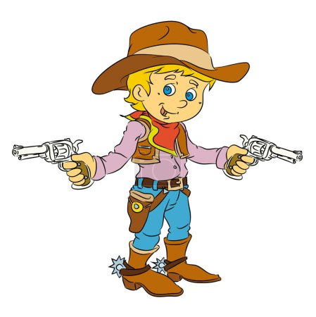 cowboy standing with guns
