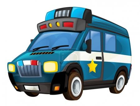 Cartoon police car truck