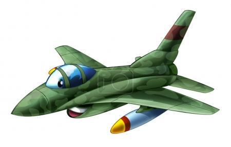 Cartoon jet fighter military machine