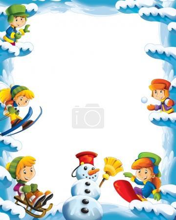 Cartoon Schnee und Eis Rahmen für unterschiedliche Einsatzzwecke
