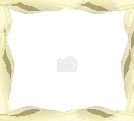Cartoon sand frame