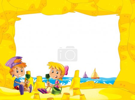 children on the beach playing in sand sailboats