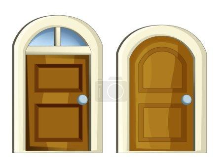 Cartoon set of doors