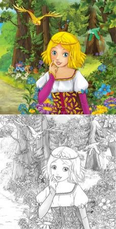 cute princes in the forest