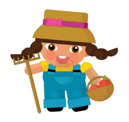 Cartoon character - gardener isolated