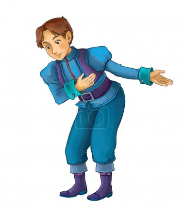 Cartoon character - nobleman - prince - illustration for children