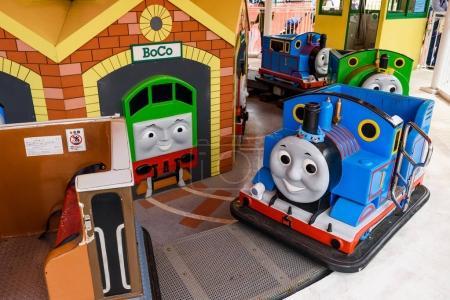Thomas and Percy playing machine