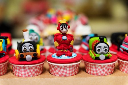 cupcake with famous cartoon movie models