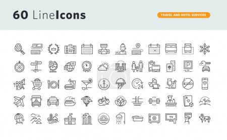 Illustration for Thin line vector icons for website design and development, app development, business and marketing presentation and print material. - Royalty Free Image