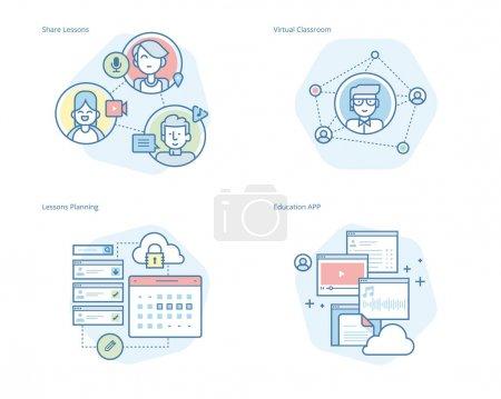 Photo pour Kit UI / UX pour la conception web, les applications, l'interface mobile, l'infographie et la conception d'impression . - image libre de droit