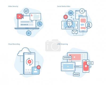 Illustration pour Kit de UI/Ux pour la conception de sites web, applications, interface mobile, infographie et conception d'impression. - image libre de droit