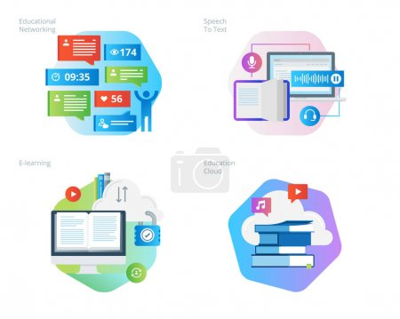 Illustration for UI/UX kit for web design, applications, mobile interface, infographics and print design. - Royalty Free Image
